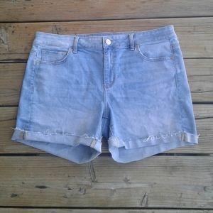 EUC American Eagle midi super stretch jean shorts